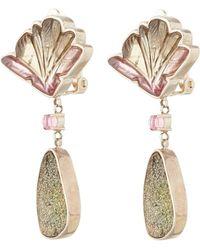 Stephen Dweck Pink Watermelon Tourmaline Earrings