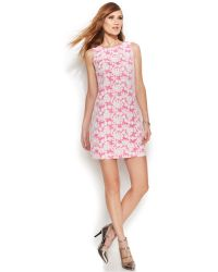 Vince Camuto Sleeveless Embroidered Floral-Lace Sheath - Lyst