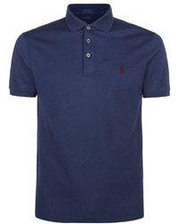 Polo Ralph Lauren Micro Mesh Polo Shirt - Blue