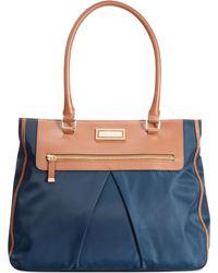 Calvin Klein Blue Nylon Tote - Lyst