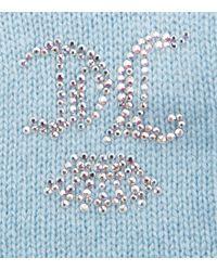 Juicy Couture Swarovski Embellished Cashmere Gloves - Blue