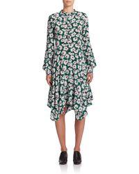 Stella McCartney | Rita Poppy Print Silk Dress | Lyst