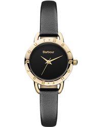 Barbour - Bb009bkbk Women's Eland Leather Strap Watch - Lyst