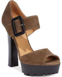Nine West Skyler High Heel Platform Sandals - Lyst