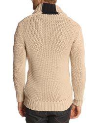 Hackett Chuncky Chale Crd Beige Sweater - Lyst