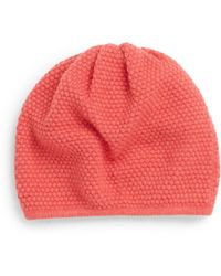Saks Fifth Avenue Black Label Popcorn-Stitch Knit Beanie - Red