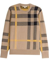 Burberry Brit - Checked Pullover With Wool And Cashmere - Multicolor - Lyst