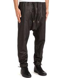 Skingraft Leather Jogging Pant - Lyst