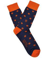 Alexander McQueen Polka Dot-Print Cotton-Blend Socks - Lyst