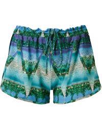 Blue Man - Landscape Prism Drawstring Shorts - Lyst