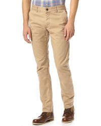 Grown & Sewn - Slim Fit 3-ply Chinos - Lyst