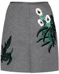 Marni Embellished Neoprene Skirt - Lyst