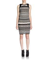 M Missoni Wavy Pointelle Knit Dress - Lyst
