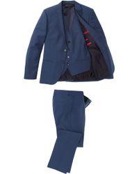 HUGO Slim Fit 3piece Suit Arantwonhixby - Blue