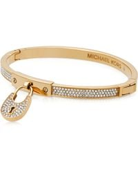 Michael Kors | Chains & Elements Metal Bangle W/crystals | Lyst
