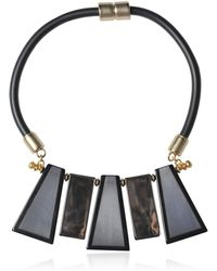 Emporio Armani Rubber and Resin Collar Necklace - Lyst