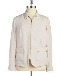Jones New York Zip-Front Jacket beige - Lyst