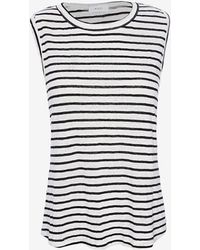 A.L.C. Exclusive Rutherford Slit Back Stripe Tank - Lyst