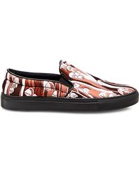 Giamba - Floral Jacquard Slip On Trainers - Lyst