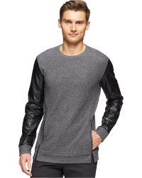 Calvin Klein Blocked Double-Knit Jaquard Slim-Fit Sweatshirt - Lyst