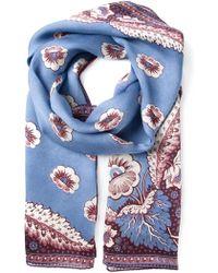 Valentino Flower Print Scarf - Lyst