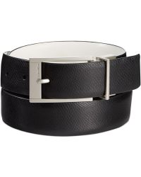 Calvin Klein Textured And Smooth Reversible Belt black - Lyst
