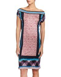 Jean Paul Gaultier Mixed-Media Coverup Dress multicolor - Lyst