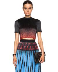 Alexander Wang Ribbed Micro Pleat Crop Top - Lyst