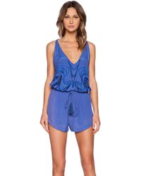 Blessed Are The Meek Sanskrit Playsuit - Lyst