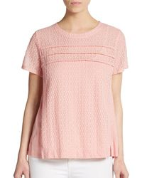 Marc By Marc Jacobs Addy Jersey-Paneled Embroidered Top - Lyst