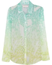 Matthew Williamson Printed Silk-chiffon Shirt - Lyst