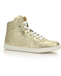Gucci | Coda Metallic Leather Sneakers | Lyst