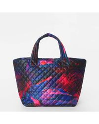 MZ Wallace Small Metro Tote Pink Lava Oxford - Lyst