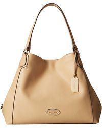 Coach Refined Pebbled Leather Edie Shoulder Bag - Lyst