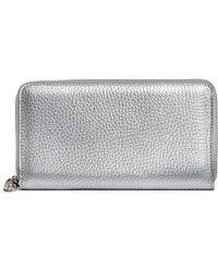Alexander McQueen | Skull Charm Leather Continental Wallet | Lyst
