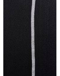 & Other Stories Panelled Running Tights - Black