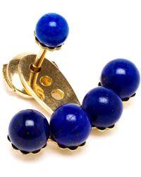 Yvonne Léon 18Kt Yellow Gold And Lapis Lazuli Lobe Earring - Lyst