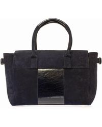 Mulberry Bayswater Buckle Suede Tote - Lyst