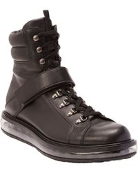 Prada Levitate-Sole Ankle-Strap Boots - Lyst