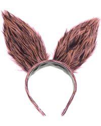 Benoit Missolin Feather Bunny Ears - Lyst