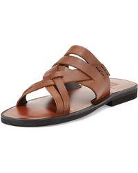 Bruno Magli - Edipo Leather Sandal Slide - Lyst