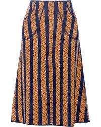 Duro Olowu - Jacquard-Knit Wool Skirt - Lyst