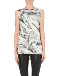 Helmut Lang Terrene-Print Stretch-Jersey Top - For Women - Lyst
