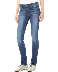 Joe's Jeans Mid Rise Skinny Jeans Lindz - Lyst