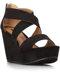 Forever 21 | Strappy Wedge Sandals | Lyst