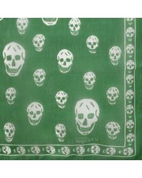 Alexander McQueen Classic Silk Chiffon Skull Scarf - Lyst