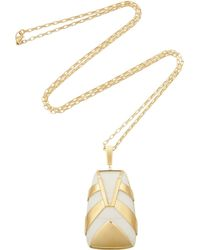 Maiyet Tiger Stripe Gold-plated Resin Necklace - Lyst