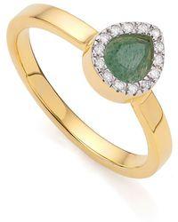 Monica Vinader Diva Mini Lotus Aventurine Ring - Green
