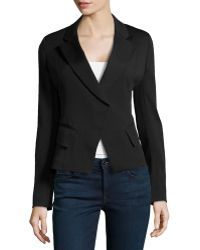 Donna Karan New York Cutaway Crepe Jacket - Lyst