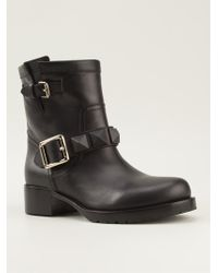 Valentino Black Ankle Boots - Lyst